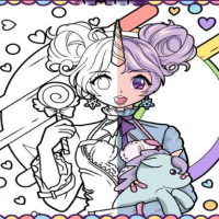 Anime Girls Coloring Book: Pop Manga Coloring