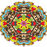 Mandala coloring book for adults and kids
