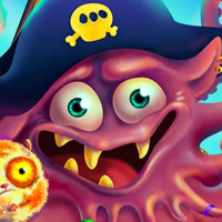 Pirate Octopus Memory Treasures Game Memory Game