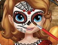 Sofia Halloween Face Art 2015